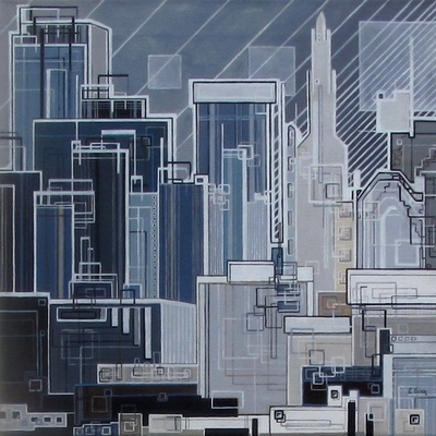 ''City''N°6013_40x40