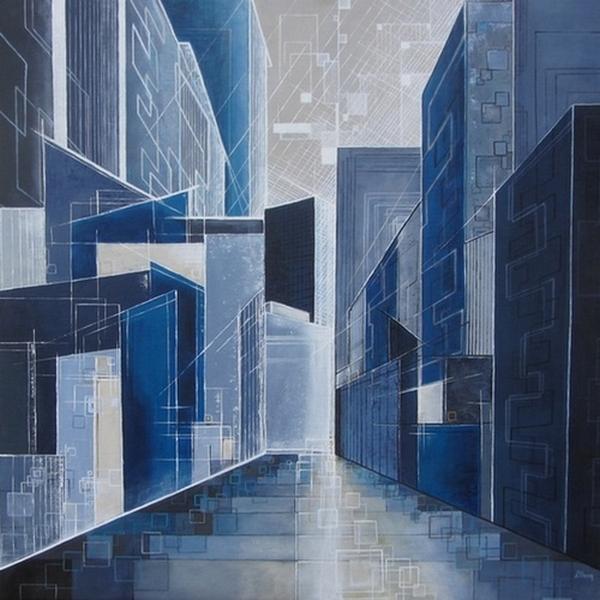 ''Coeur de ville''N°4712_70x70