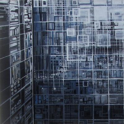 ''Fenêtre sur cour(1)''N°5412_40x40