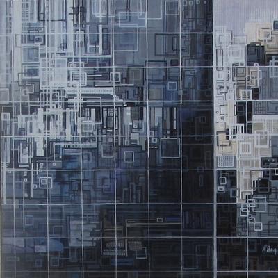 ''Fenêtre sur cour(2)''N°5512-40x40
