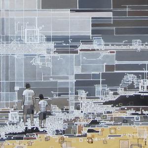 ''Littoral''-N°7014-(40x40)x300