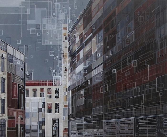 ''Quartier...de lune'' N°6213-61x50