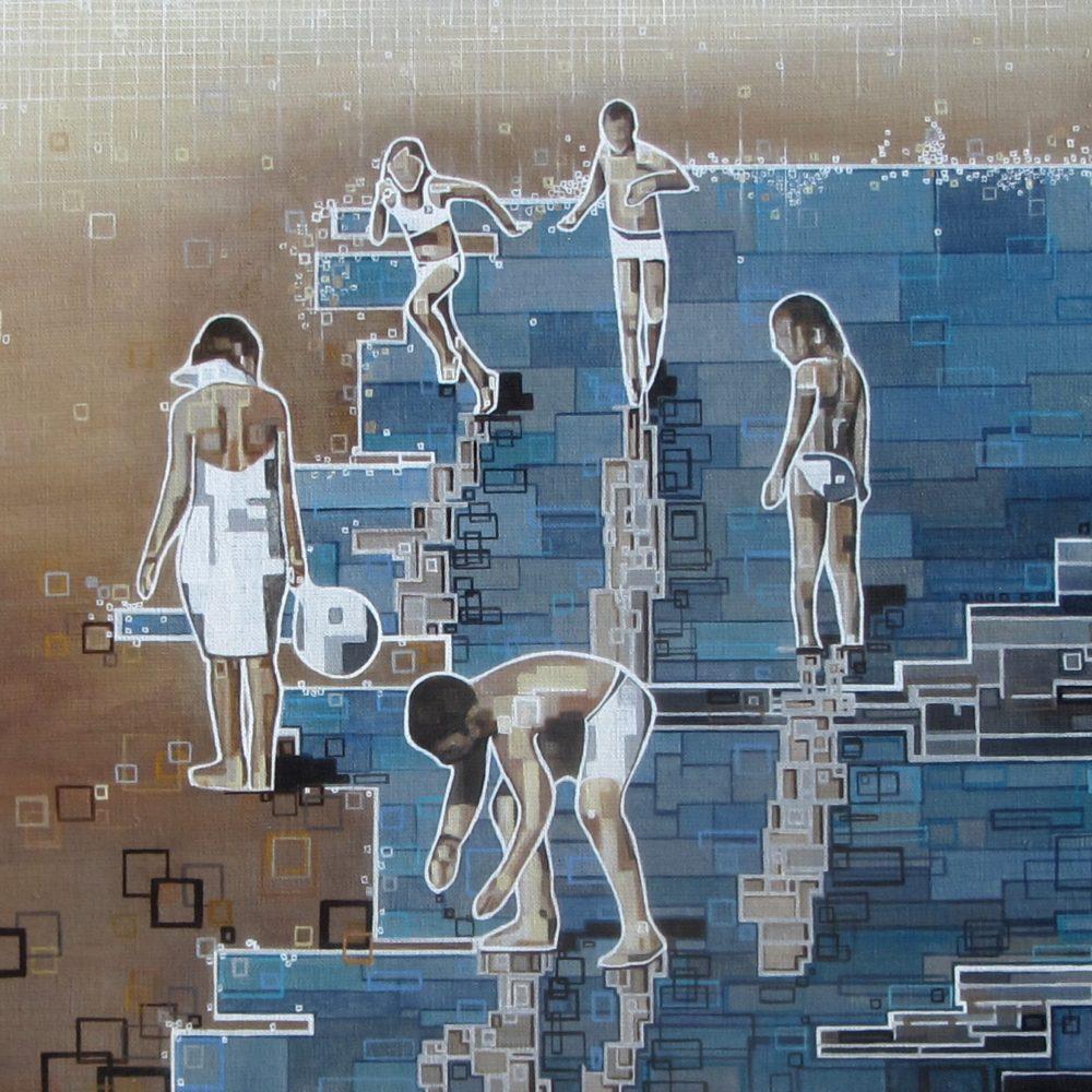 ''Les baigneurs 1'' N°8015 (80x40)