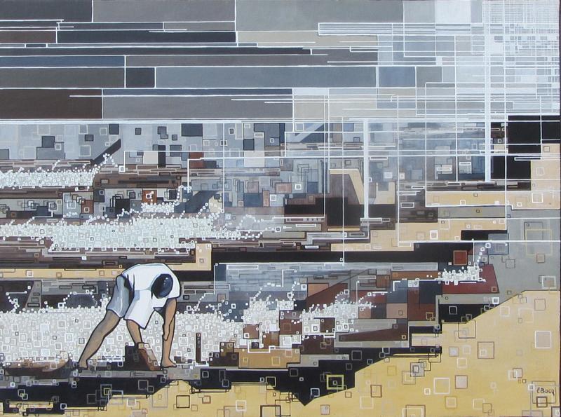 ''Marée basse'' N°6413 (73x54)