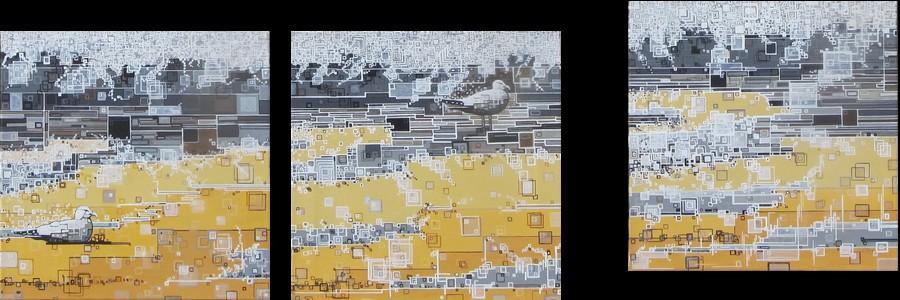''L'envol''N°6514 (40x40)x3